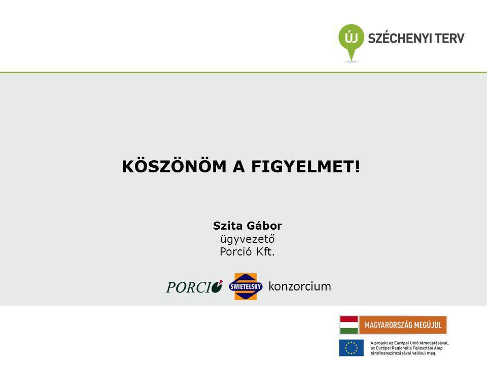 KÖSZÖNÖM A FIGYELMET! Szita Gábor ügyvezető Porció Kft. konzorcium