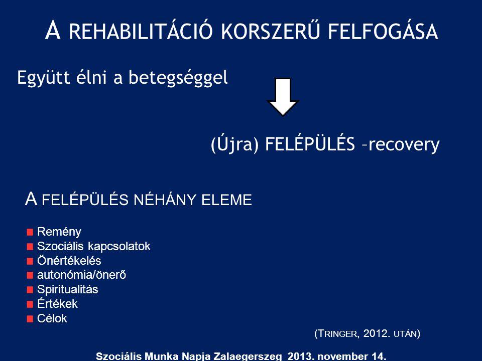 A rehabilitáció korszerű felfogása