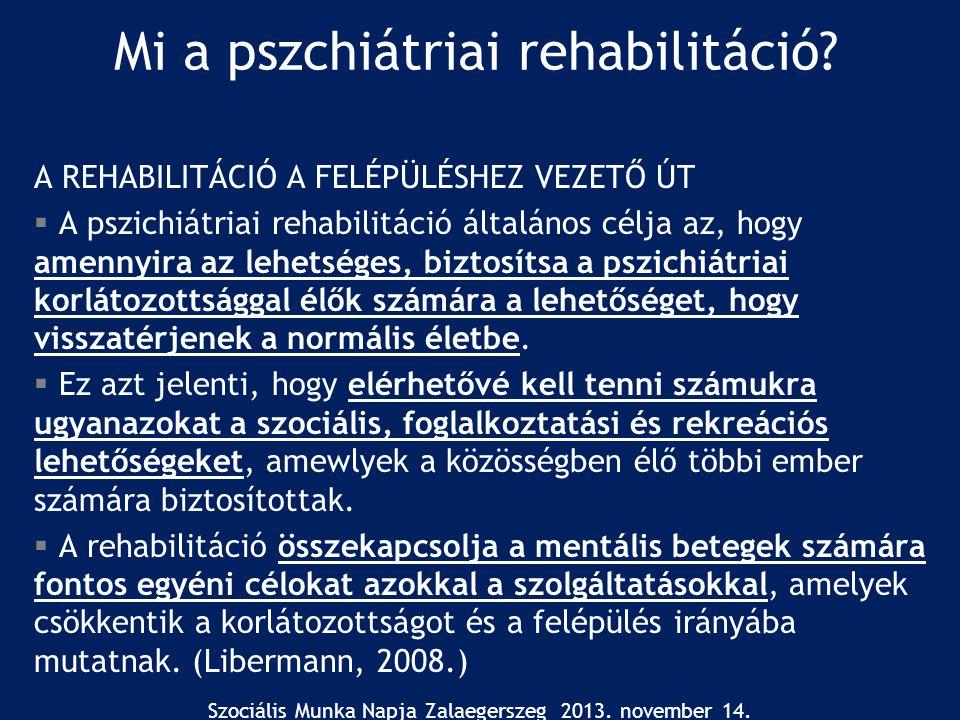 Mi a pszchiátriai rehabilitáció
