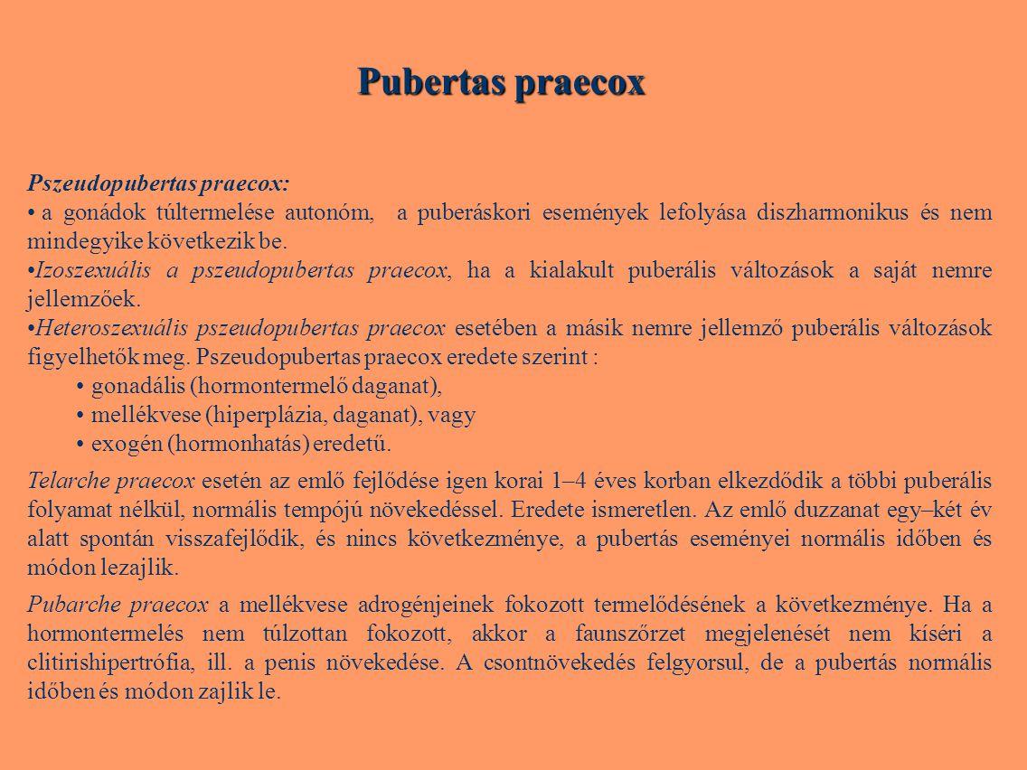 Pubertas praecox Pszeudopubertas praecox: