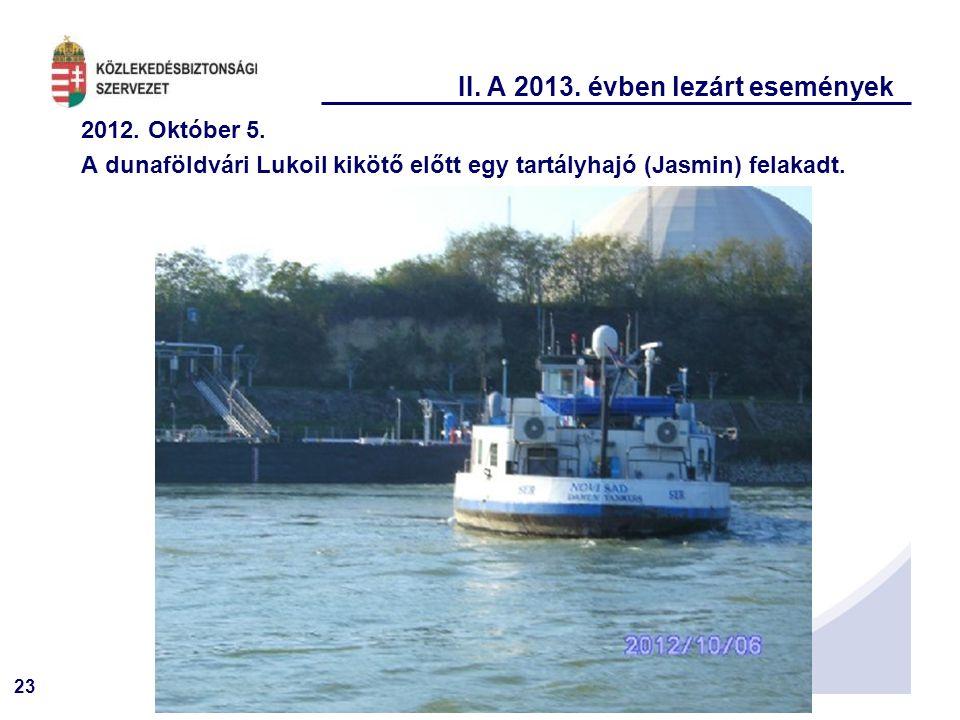 II. A 2013. évben lezárt események