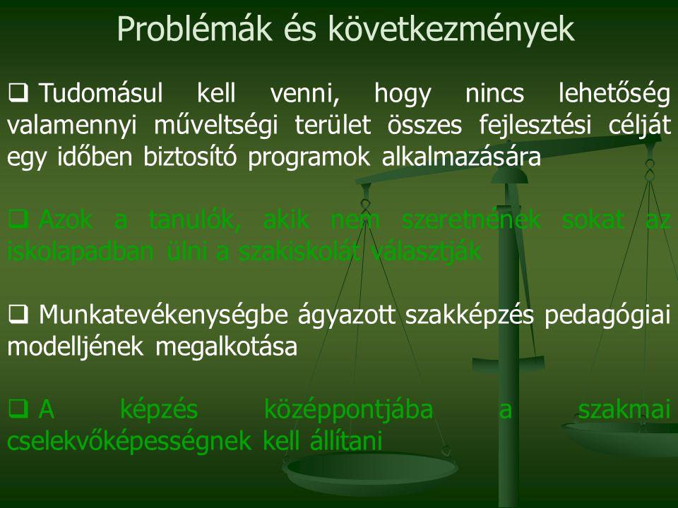 Problémák és következmények