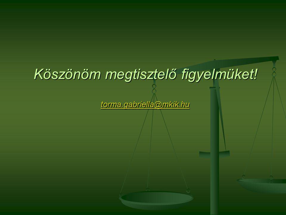 Köszönöm megtisztelő figyelmüket! torma.gabriella@mkik.hu