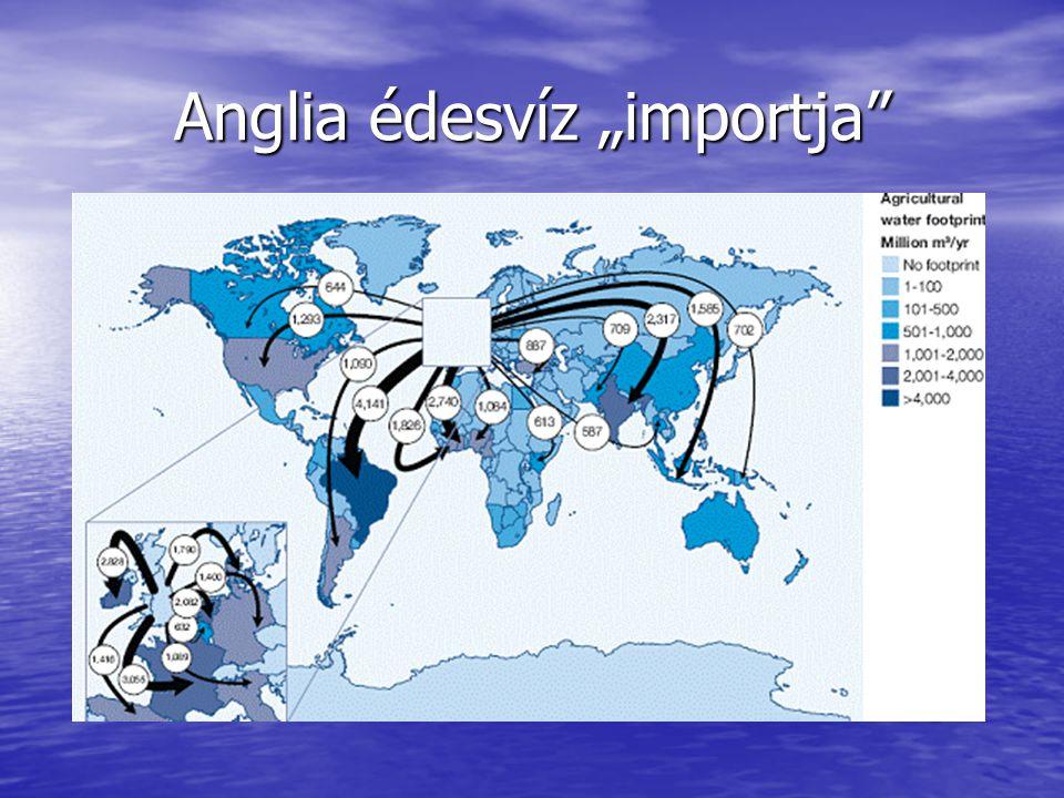 """Anglia édesvíz """"importja"""