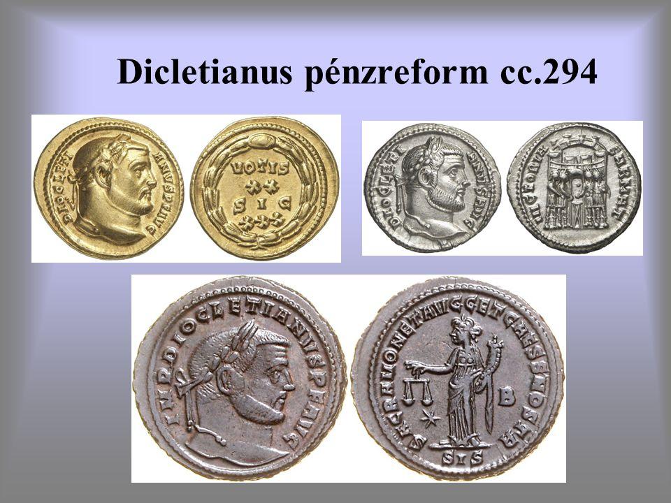 Dicletianus pénzreform cc.294