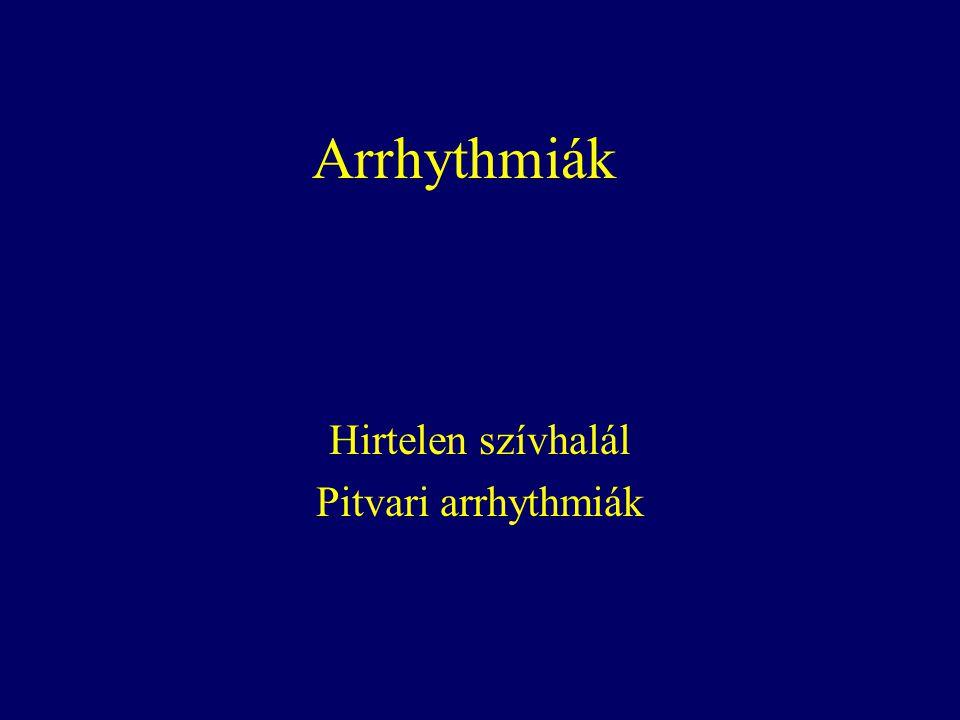 Hirtelen szívhalál Pitvari arrhythmiák
