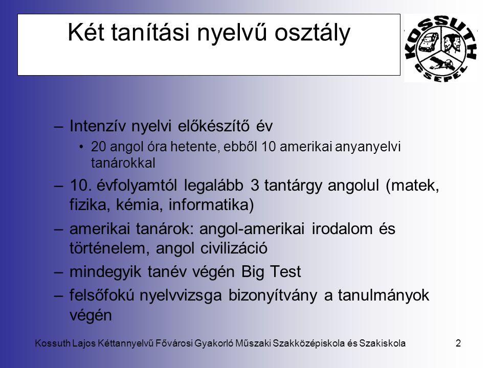 Két tanítási nyelvű osztály