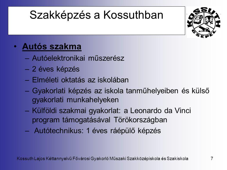 Szakképzés a Kossuthban
