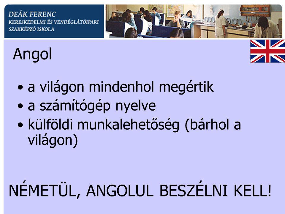 NÉMETÜL, ANGOLUL BESZÉLNI KELL!