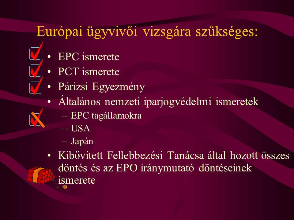 Európai ügyvivői vizsgára szükséges:
