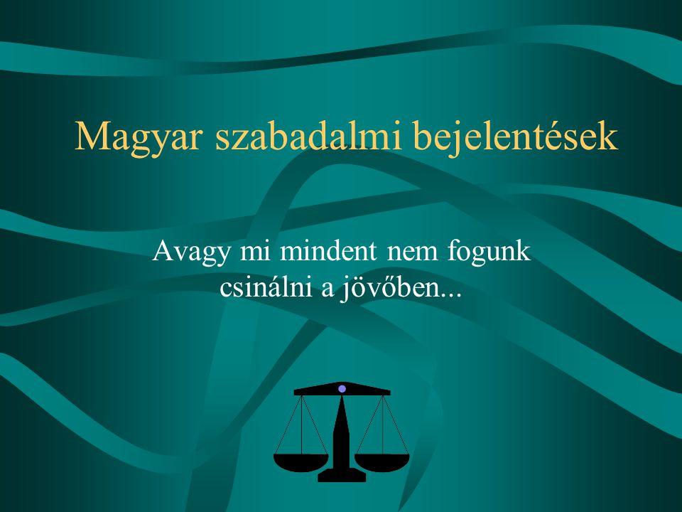 Magyar szabadalmi bejelentések