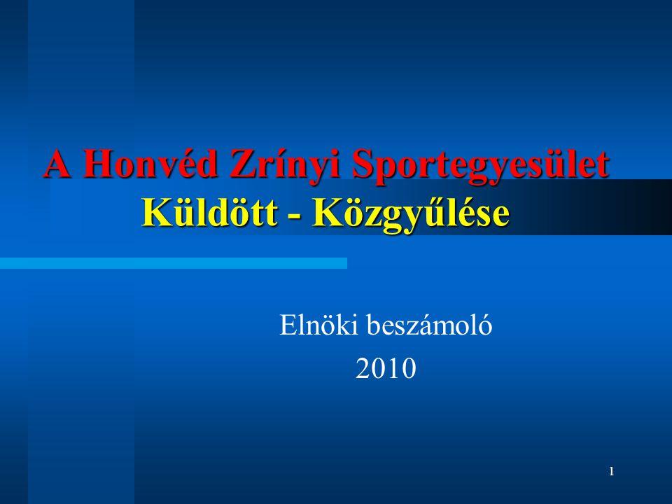 A Honvéd Zrínyi Sportegyesület Küldött - Közgyűlése