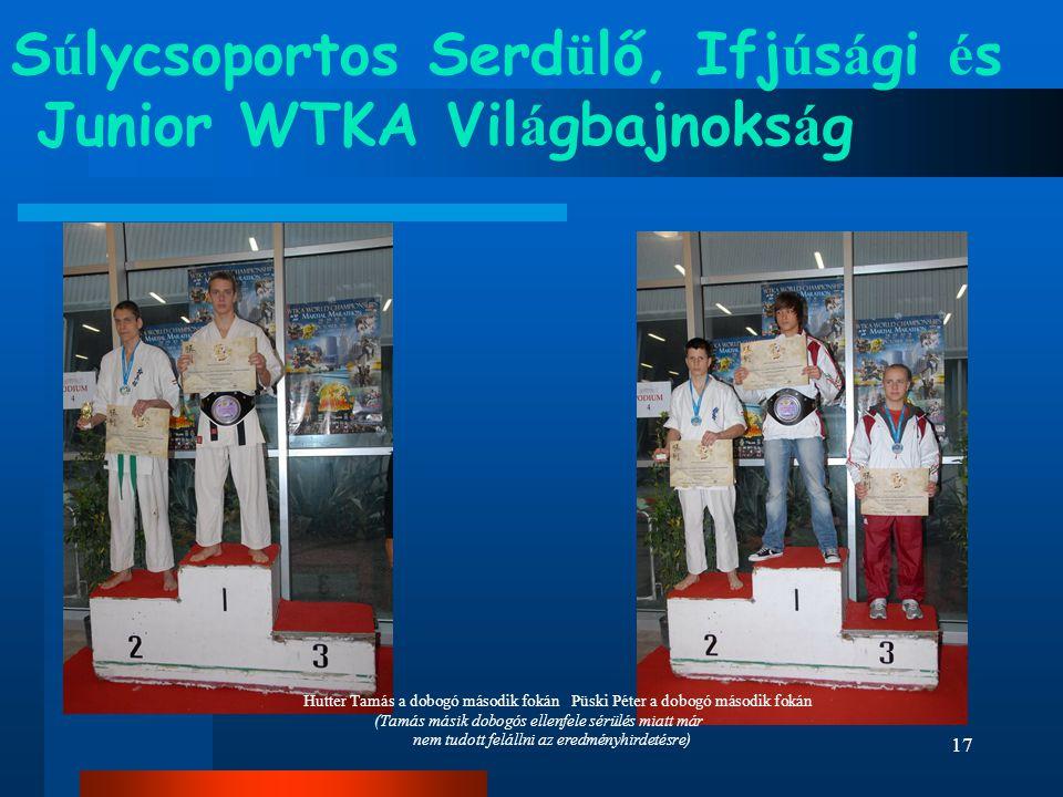 Súlycsoportos Serdülő, Ifjúsági és Junior WTKA Világbajnokság