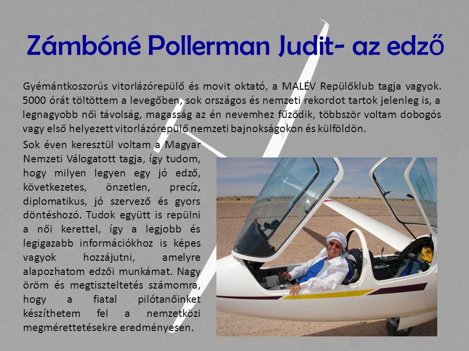 Zámbóné Pollerman Judit- az edző