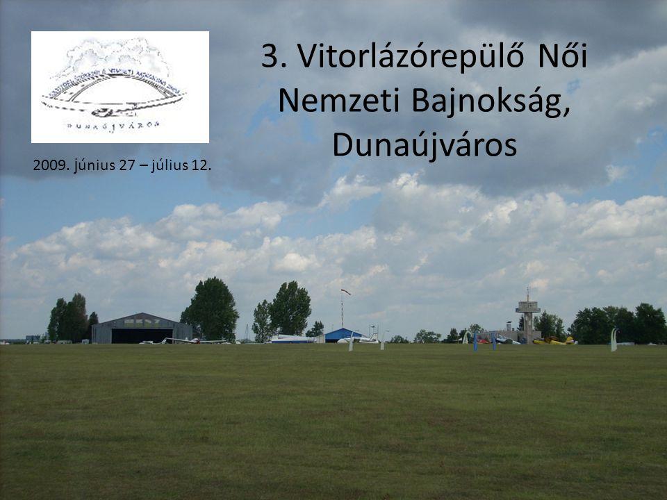 3. Vitorlázórepülő Női Nemzeti Bajnokság, Dunaújváros