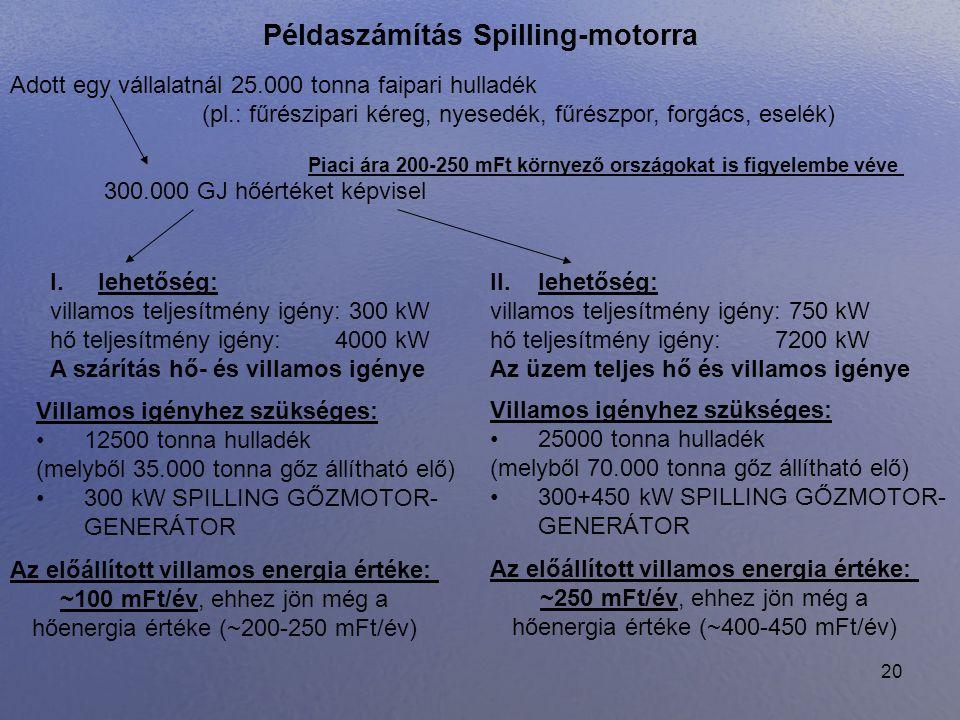 Példaszámítás Spilling-motorra