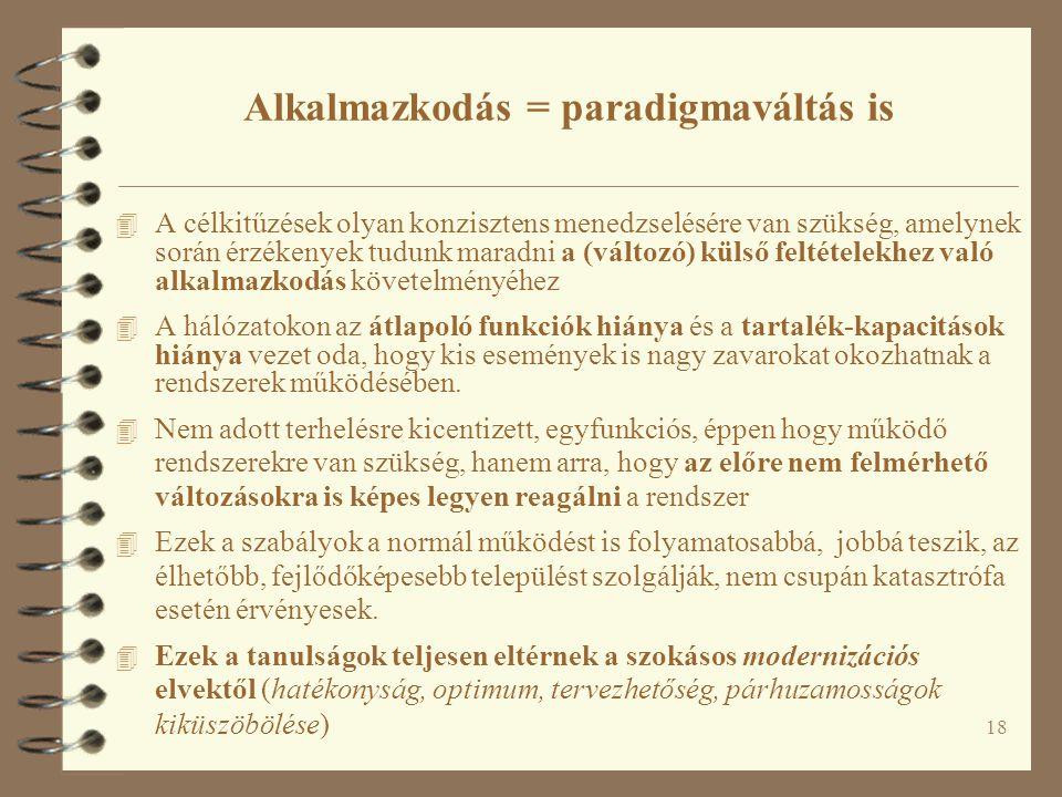 Alkalmazkodás = paradigmaváltás is