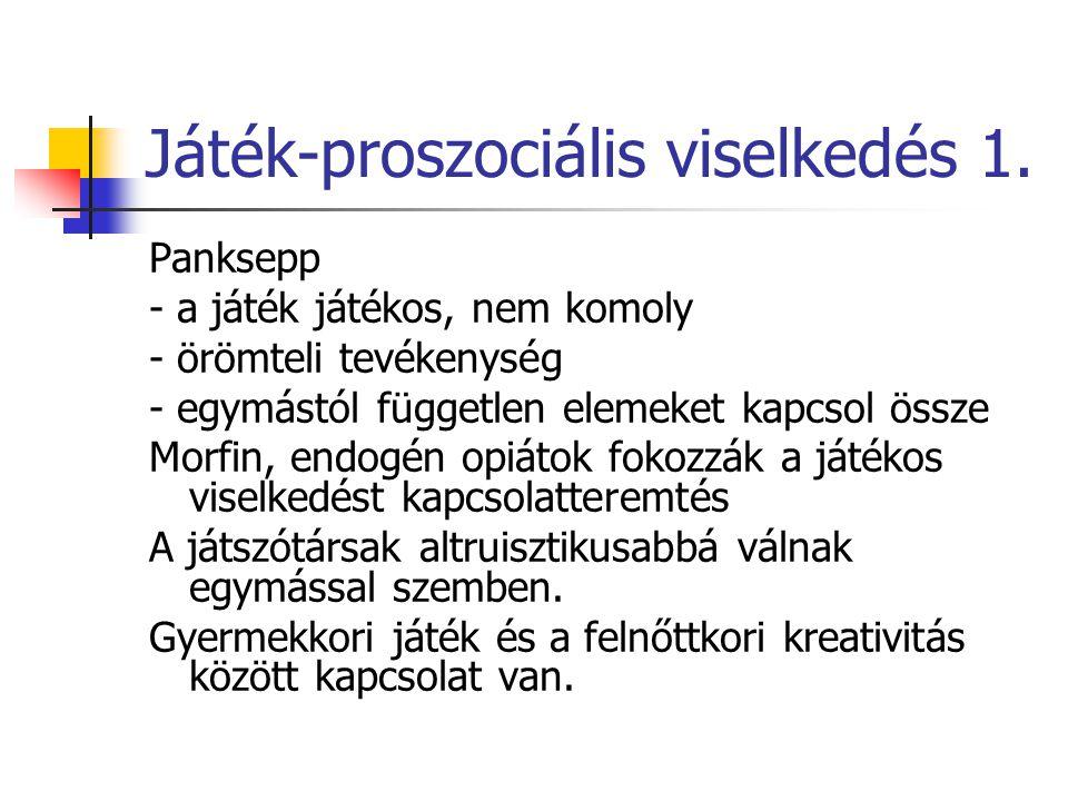 Játék-proszociális viselkedés 1.