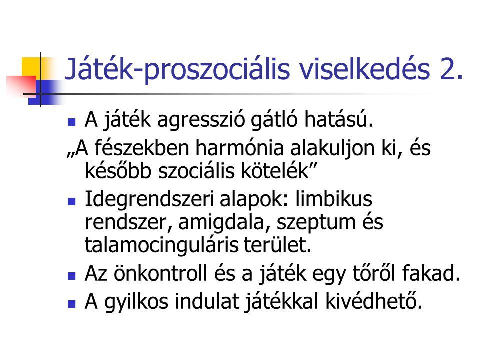 Játék-proszociális viselkedés 2.