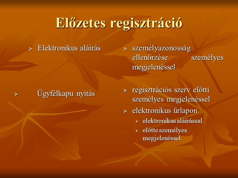 Előzetes regisztráció