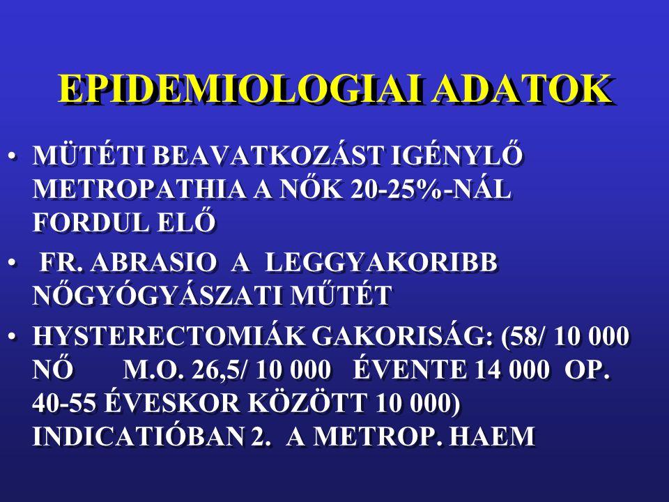 EPIDEMIOLOGIAI ADATOK