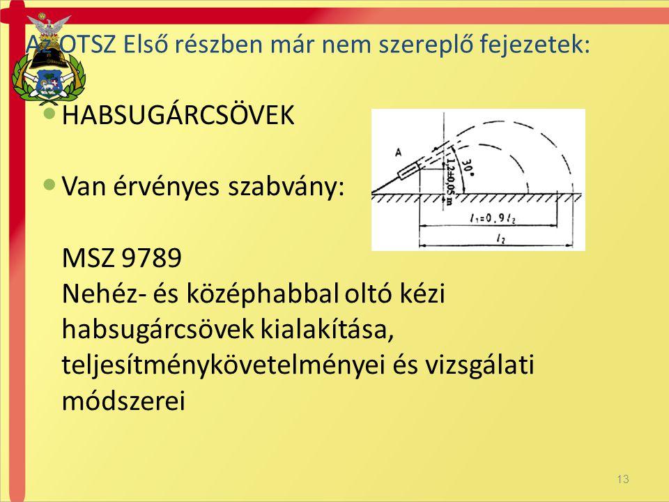 Van érvényes szabvány: MSZ 9789
