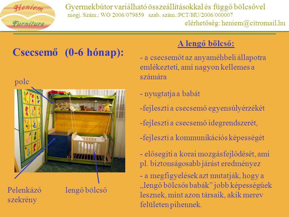 Csecsemő (0-6 hónap): A lengő bölcső: