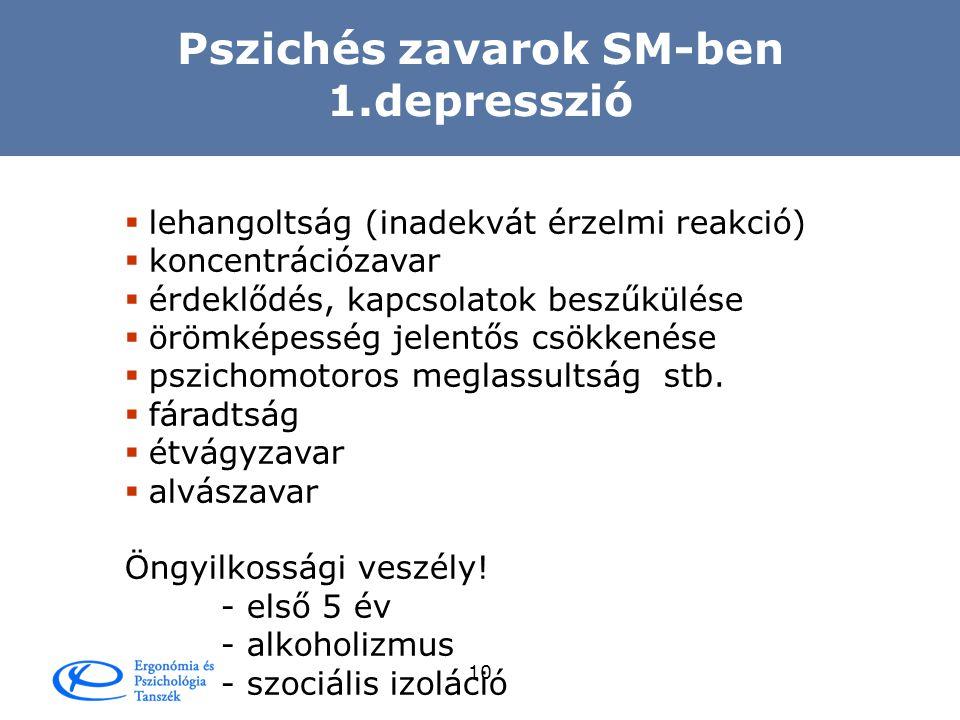 Pszichés zavarok SM-ben 1.depresszió