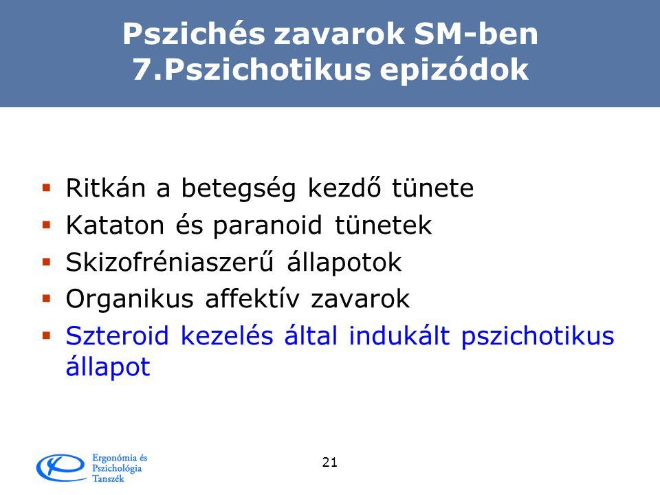 Pszichés zavarok SM-ben 7.Pszichotikus epizódok