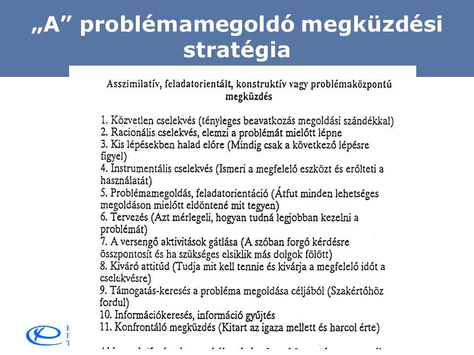 """""""A problémamegoldó megküzdési stratégia"""