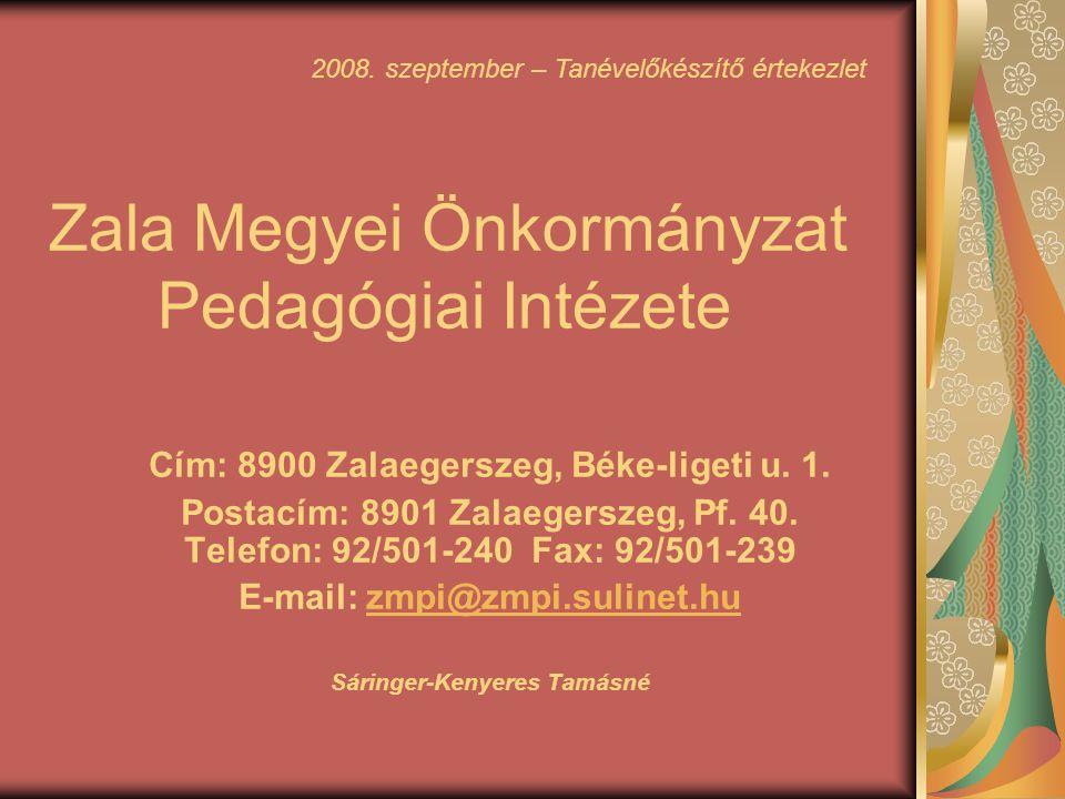 Zala Megyei Önkormányzat Pedagógiai Intézete
