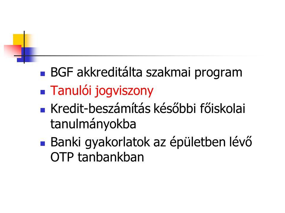BGF akkreditálta szakmai program