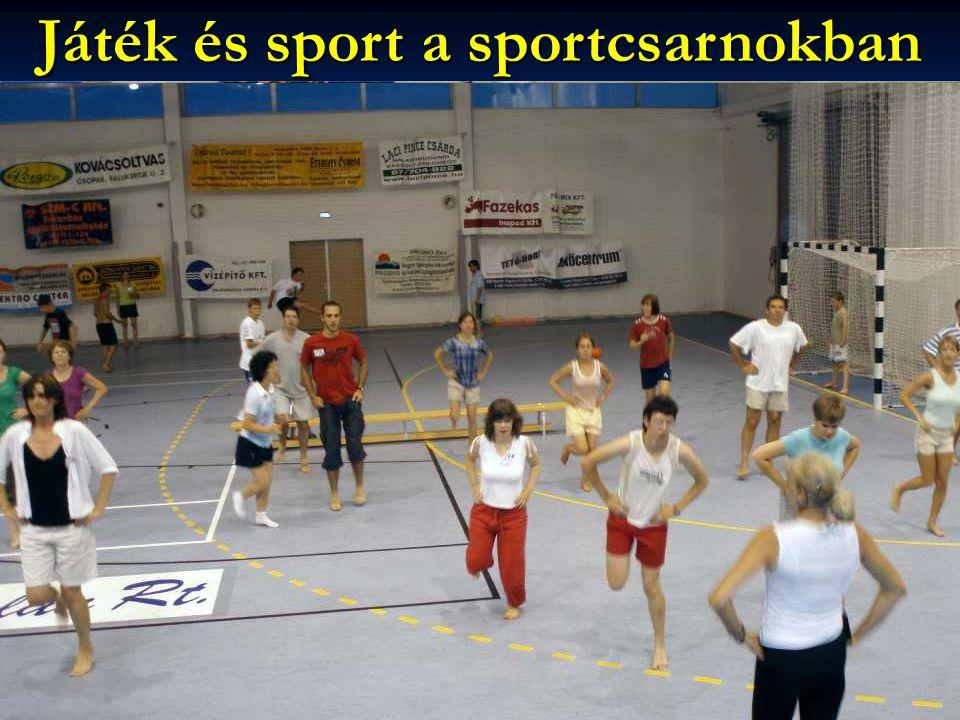 Játék és sport a sportcsarnokban