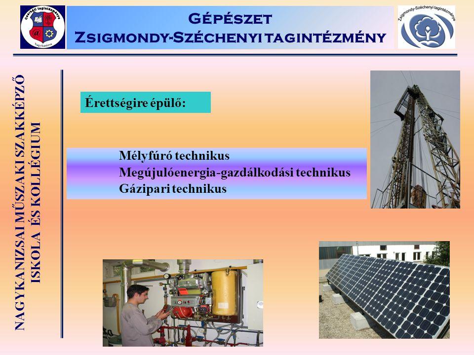 Gépészet Zsigmondy-Széchenyi tagintézmény