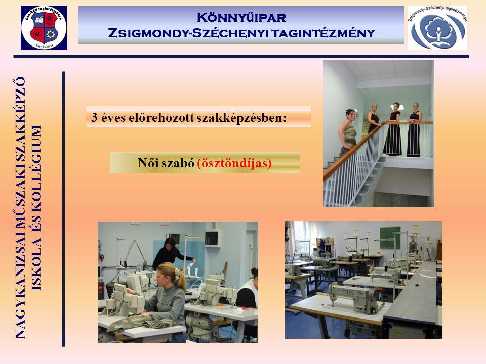 Könnyűipar Zsigmondy-Széchenyi tagintézmény Női szabó (ösztöndíjas)