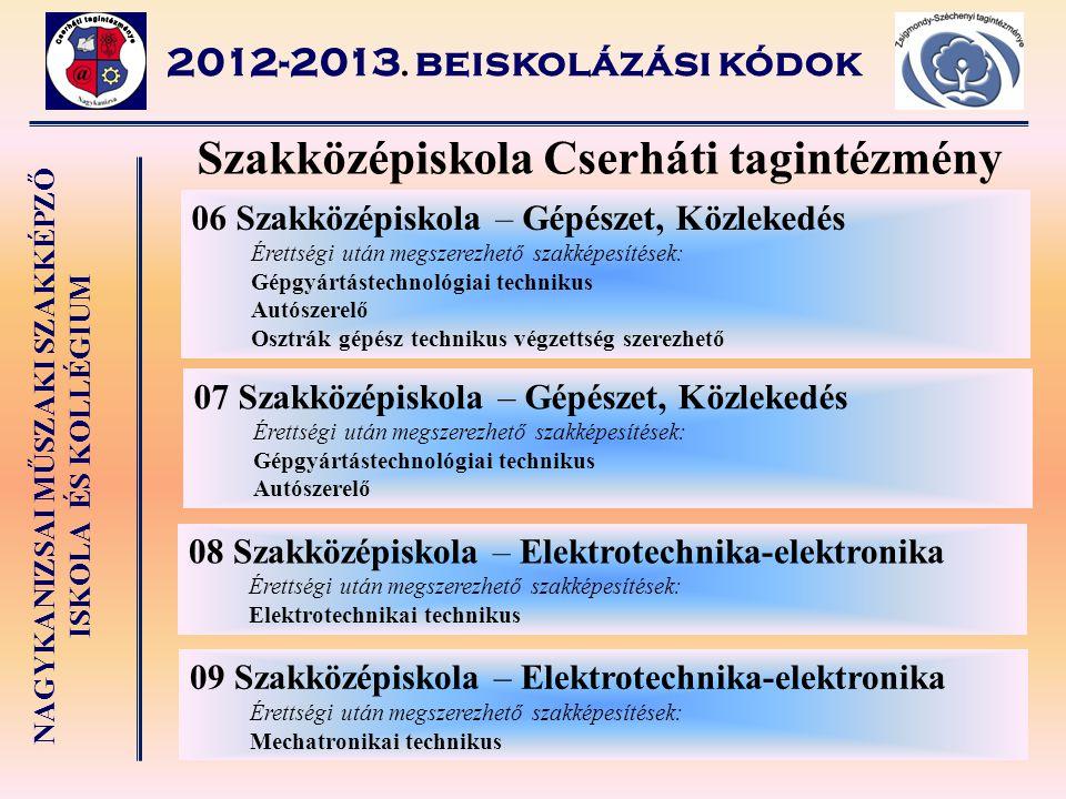 Szakközépiskola Cserháti tagintézmény