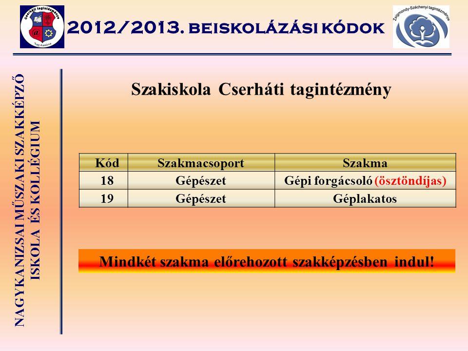 Szakiskola Cserháti tagintézmény