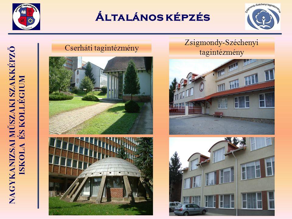 Általános képzés Zsigmondy-Széchenyi tagintézmény