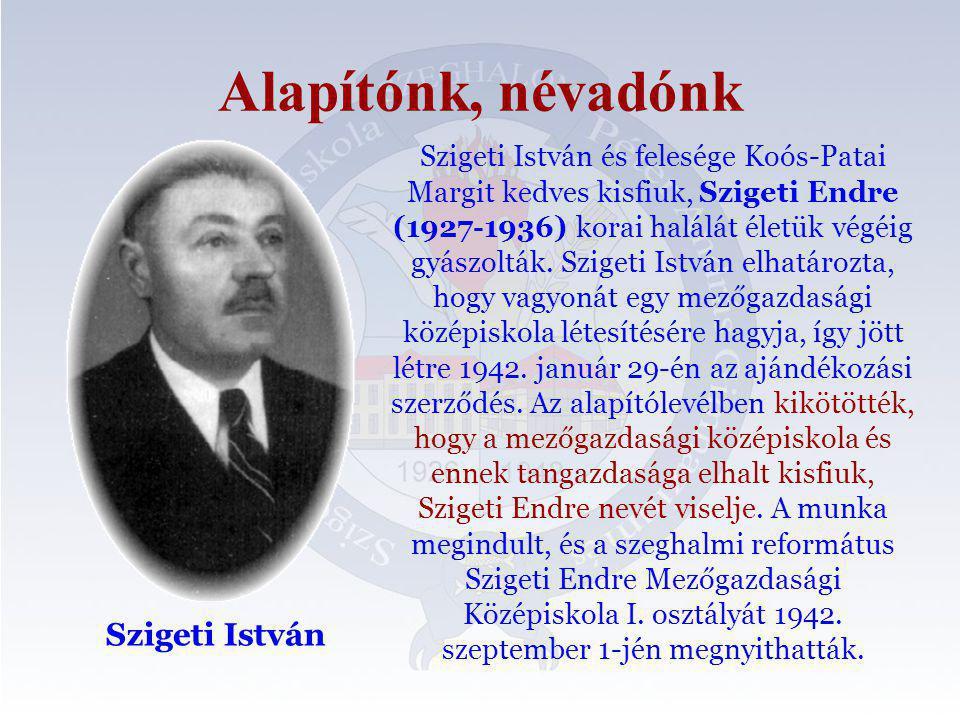 Alapítónk, névadónk Szigeti István
