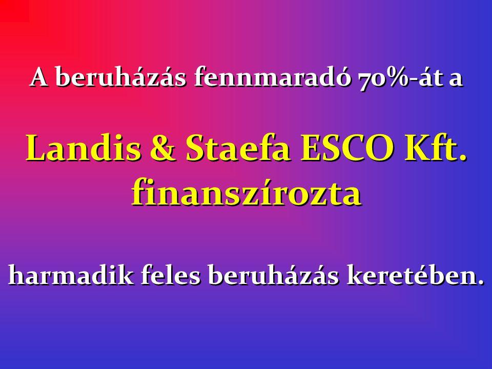 Landis & Staefa ESCO Kft. finanszírozta