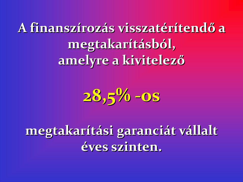megtakarítási garanciát vállalt éves szinten.