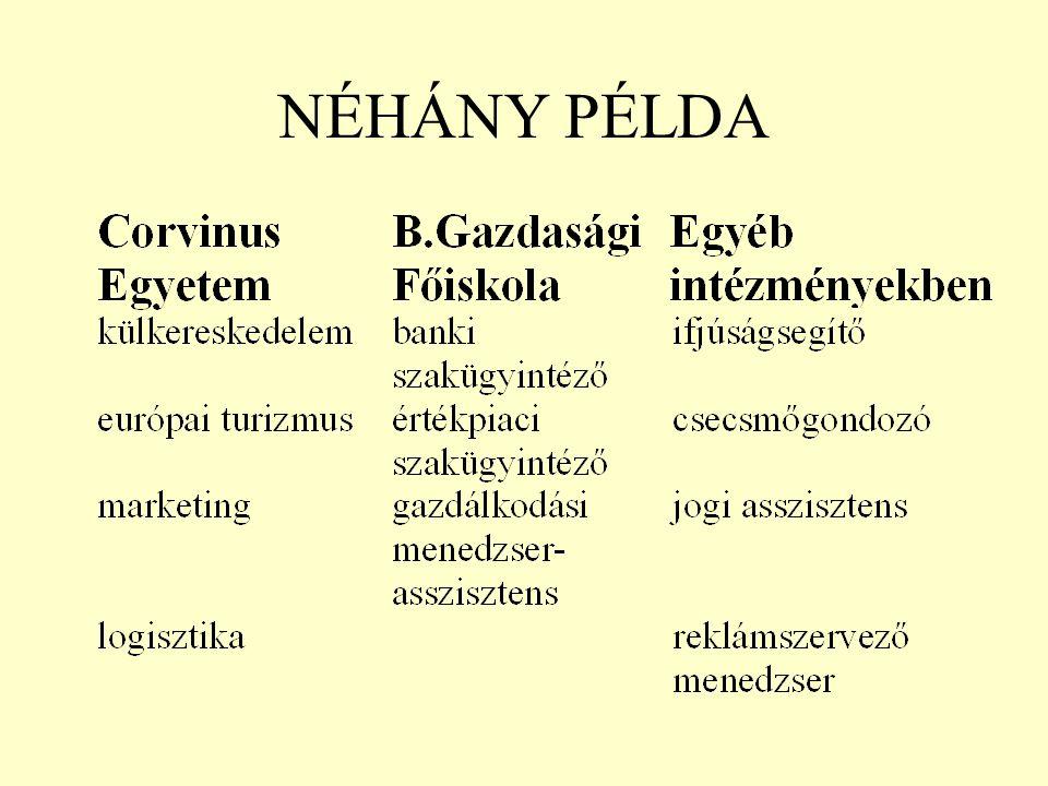 NÉHÁNY PÉLDA