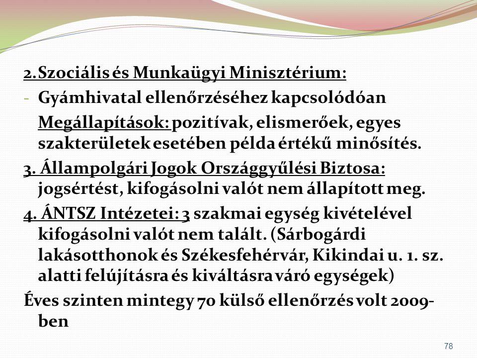 2. Szociális és Munkaügyi Minisztérium: