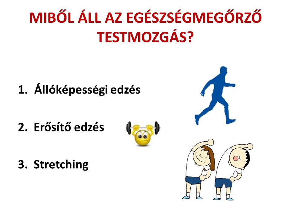 MIBŐL ÁLL AZ EGÉSZSÉGMEGŐRZŐ TESTMOZGÁS