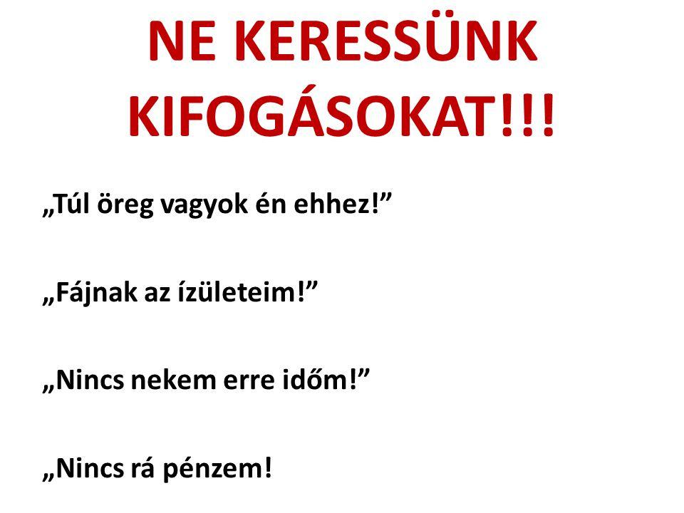 NE KERESSÜNK KIFOGÁSOKAT!!!