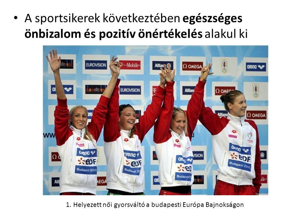 1. Helyezett női gyorsváltó a budapesti Európa Bajnokságon