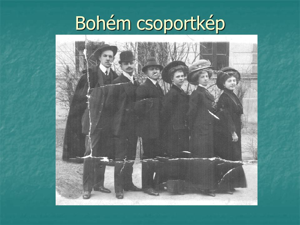 Bohém csoportkép