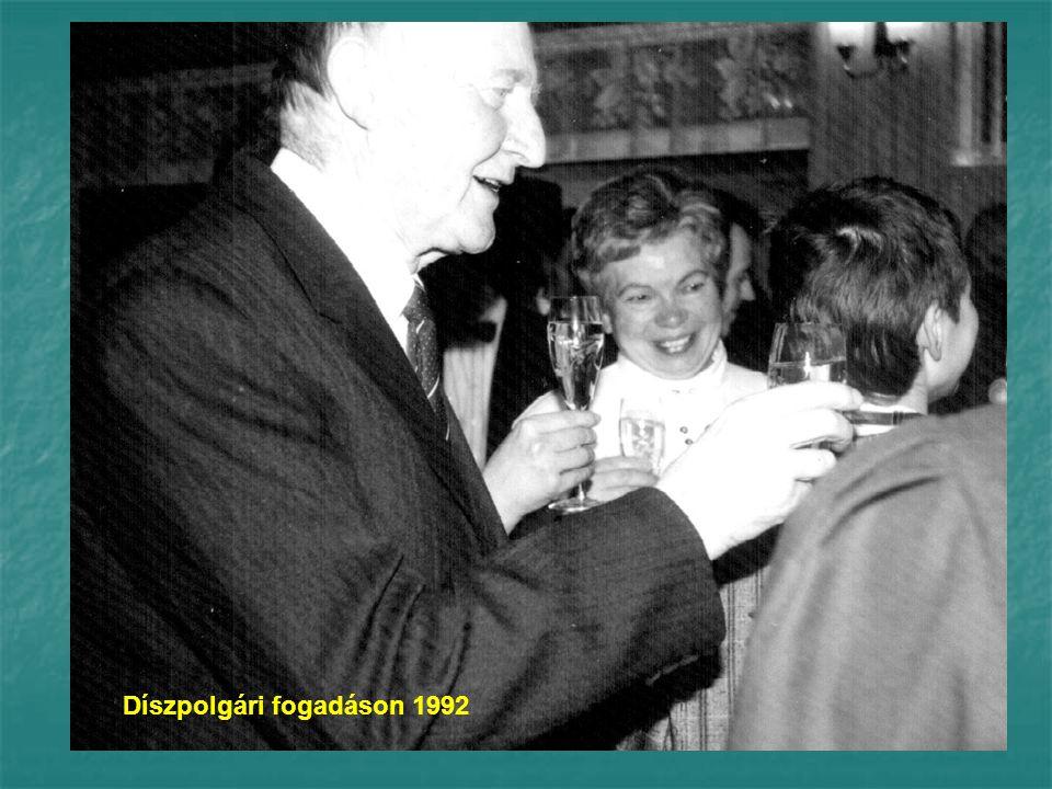Díszpolgári fogadáson 1992