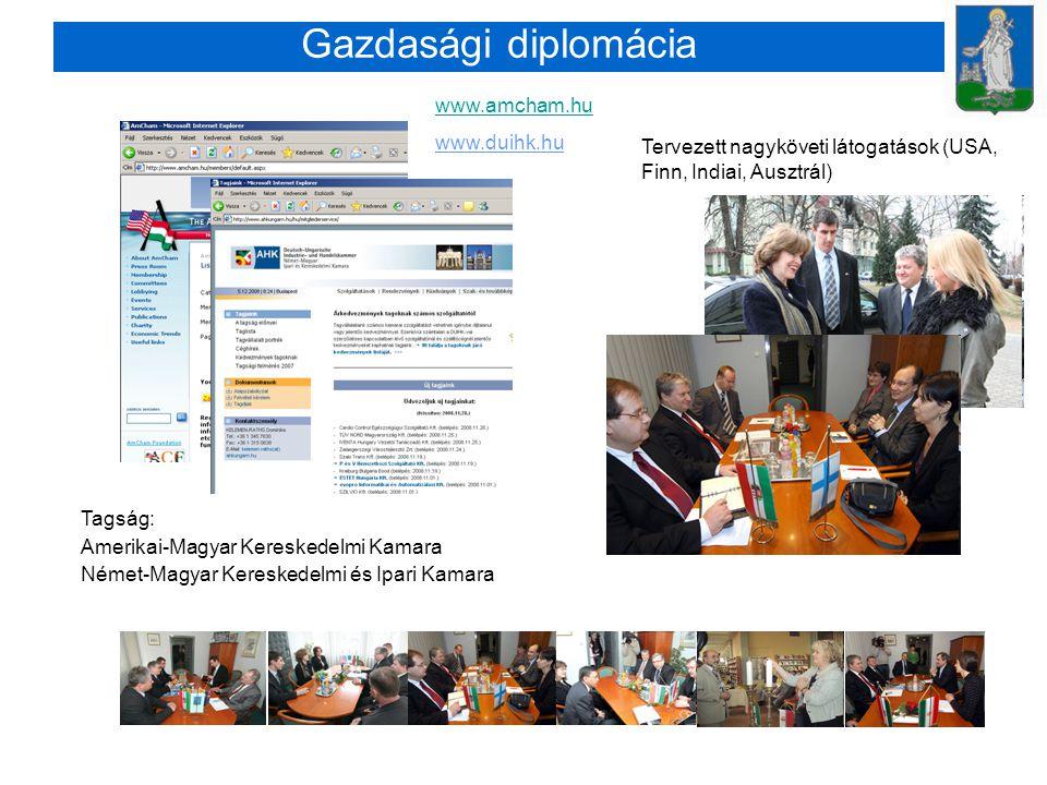 Gazdasági diplomácia www.amcham.hu www.duihk.hu