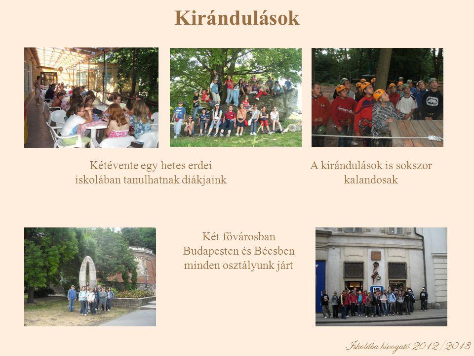 Kirándulások Iskolába hívogató 2012/2013